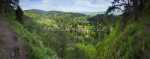 Výhľad na Čingov a Tatry zo Sovej skaly