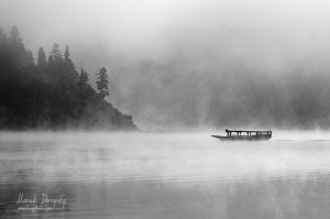 Loďka na Czorsztynskom jazere
