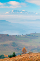 Lesnické sedlo a Vysoké Tatry z kopca Šlachovky (Wysoky Wierch)