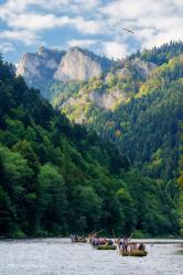 Pltnici na Dunajci, v pozadí Tri Koruny