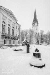 Pamatník Majstra Konráda pred Radnicou
