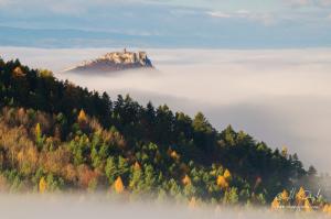Spišský hrad v hmle