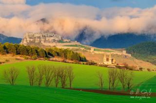 Spišský hrad a Spišská Kapitula po daždi