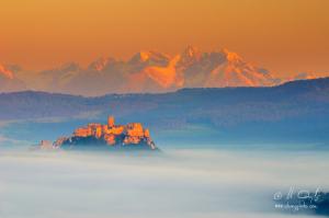 Spišská hrad v hmle