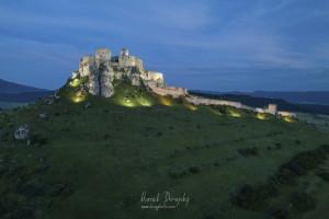 Osvetlený Spišský hrad