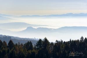 Spišský hrad z Levočských vrchov