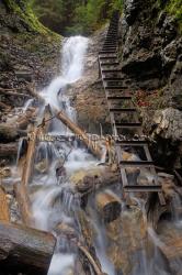 Posledný vodopád v rokline Suchá Belá