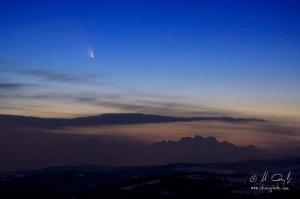 Kométa Panstarrs nad Tatrami