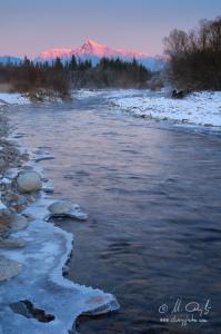 Zimný Kriváň a rieka Belá