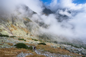 Turistka nad Malou Studenou dolinou